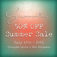 Granola. Summer Sale!