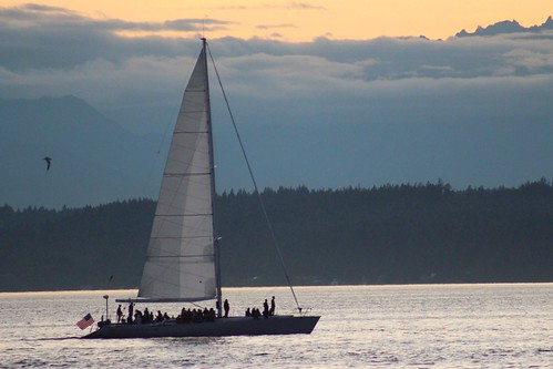 Sailboat from Constellation park in West Seattle