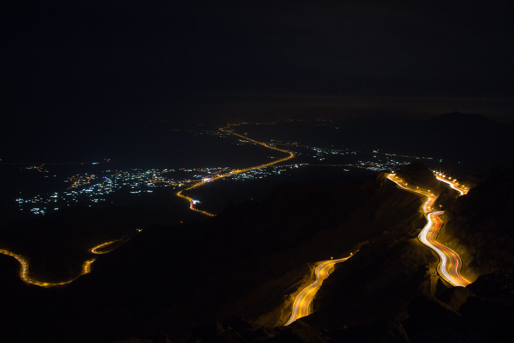 Alhada Mountain Highway at Night Makkah Region Saudi Arabia (6)