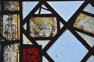 fragments, 15th Century: crowned woman and bald man