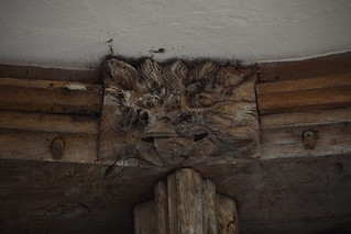 south aisle roof: beast with its tongue out