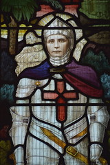 Stanley Leech Wade as St George (died from wounds at Rouen, June 1917)