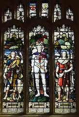 Stanley Leech Wade as St George (died from wounds at Rouen, June 1917) flanked by Jonathan and David