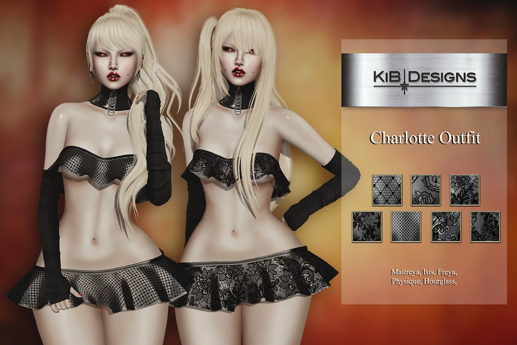 KiB Designs - Charlotte Dress @Suicide Dollz - TeleportHub.com Live!