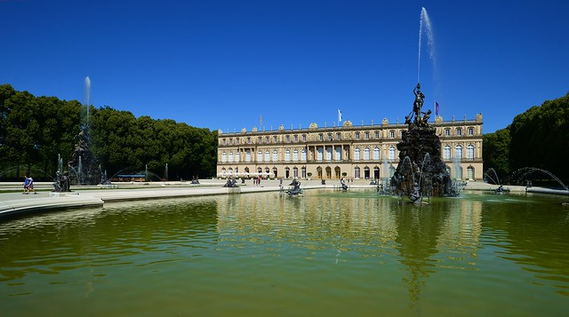 Herrenchiemsee - The Fountains And The Palace