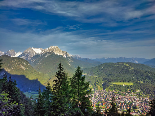 Afternoon mountain light over Mittenwald