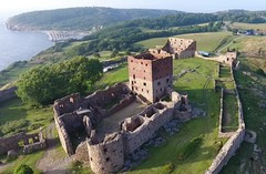 Forteresse de Hammerhus à Bornholm (Danemark)
