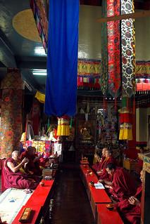 Nepal - Kathmandu - Swayumbunath Monastery interior