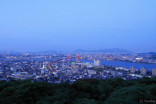 Takatouyama Observatory at Blue Moment