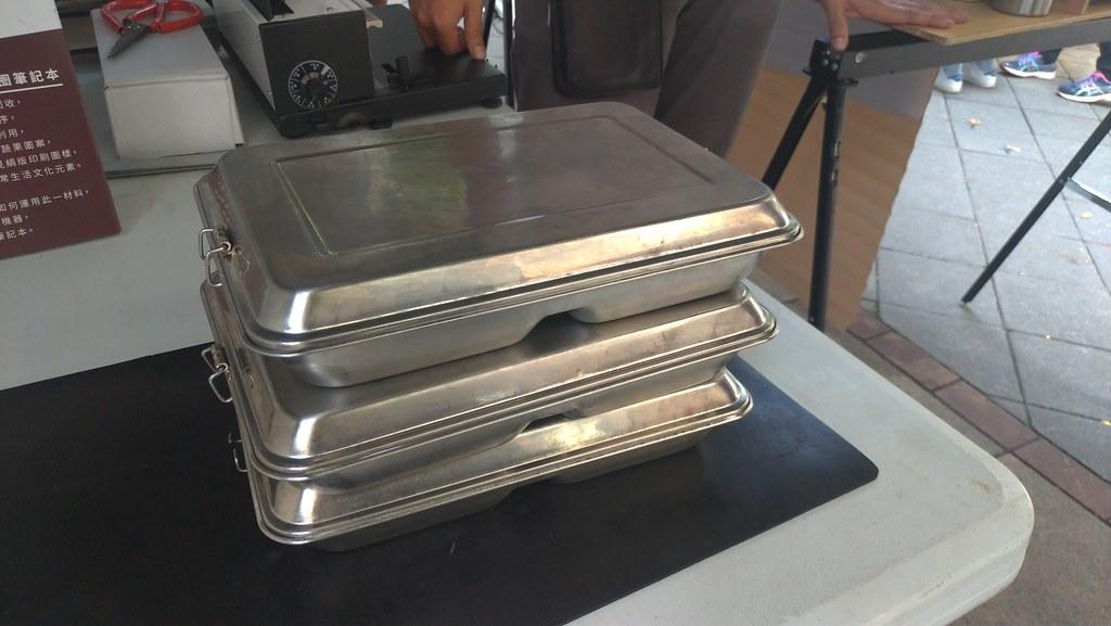 曙光音樂祭的上百位的工作人員全部都使用鐵製便當盒,並自帶餐具減少垃圾。孫文臨攝