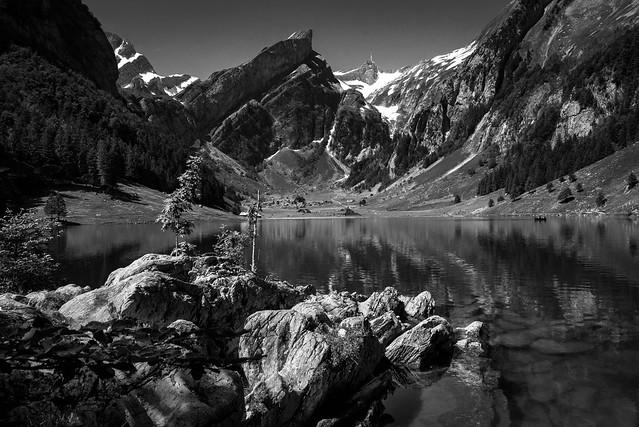 Der Alpstein mit dem Säntis