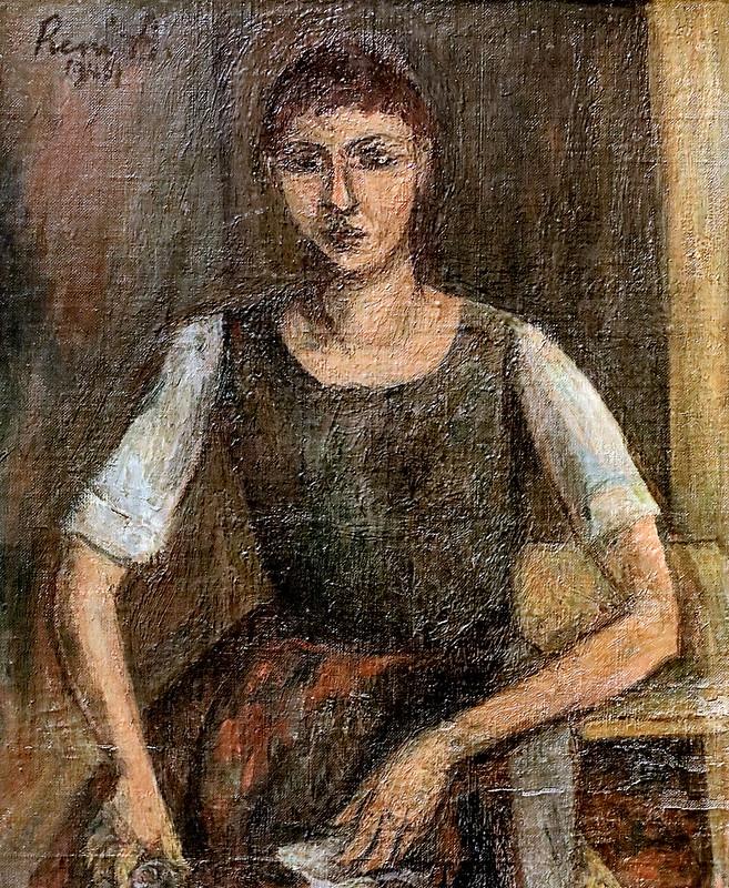 IMG_6628 René Auberjonois. 1872-1957. Jouxtens-Mézery La Servante The Servant 1946 Aix en Provence. Musée Granet.