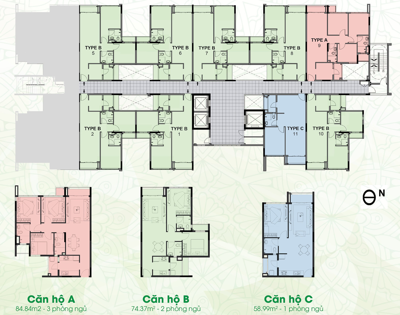 Thiết kế mặt bằng căn hộ Eco Xuân Bình Dương