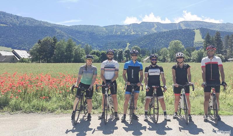 brochette de sportifs: moi, Maxime, Mathieu, Liess, Laetitia et Samir