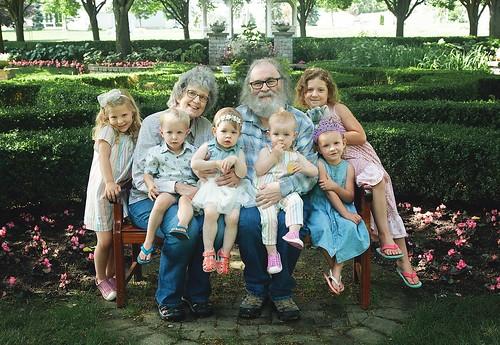 Josie, Jack, Marika, Cora, Marn, & Lou grandchildren