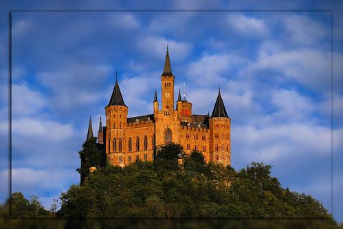 burg hohenzollern sunset castle cloud blue finegold nikonflickraward matthiasolt