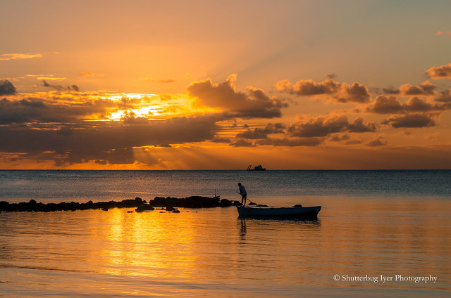 The lonely boatman of Mont Choisy, Mauritius