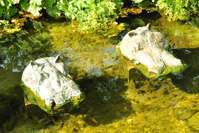 Juli 2019 ... Zwei Flusspferde, Kunstwerk in Bad Wörishofen ... Foto: Brigitte Stolle