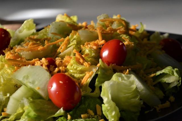 Garden Salad with Cheese (Vegan)