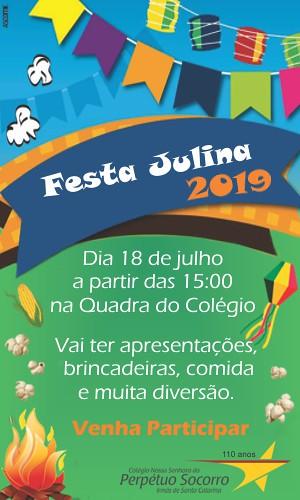 Vem aí a Festa Julina do Colégio Perpétuo Socorro, fique ligado!