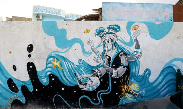 Streetart in Dahab Egypt