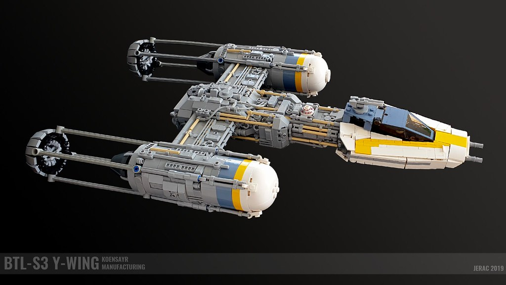 BTL-S3 Y-Wing Bomber (custom built Lego model)