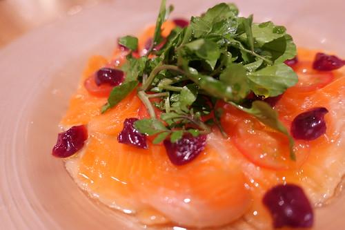 smoked salmon & pickles American cherry Nakameguro le père 21