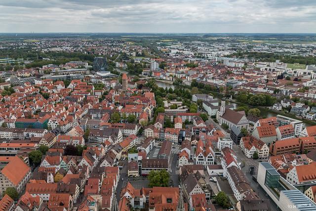 Blick vom Ulmer Münster Richtung Neu Ulm