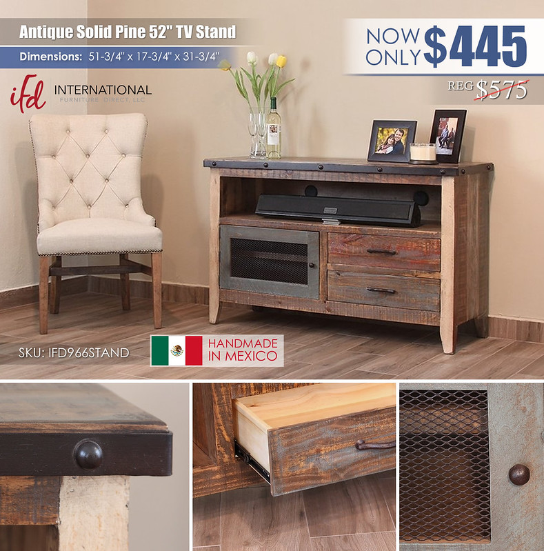 Antique 52in TV Stand_IFD966STAND