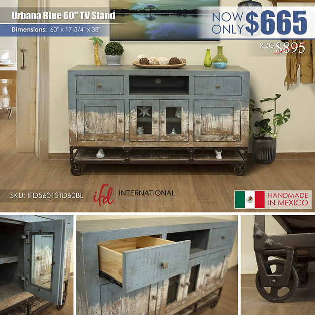Urbana 60in Blue TV Stand_IFD5601STD60BL