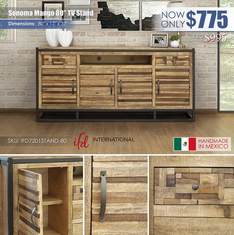 Sonoma Mango 80in TV Stand_IFD7201STAND-80