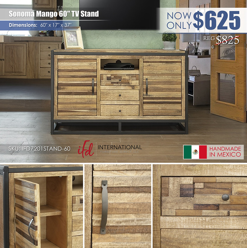 Sonoma Mango 60in TV Stand_IFD7201STAND-60