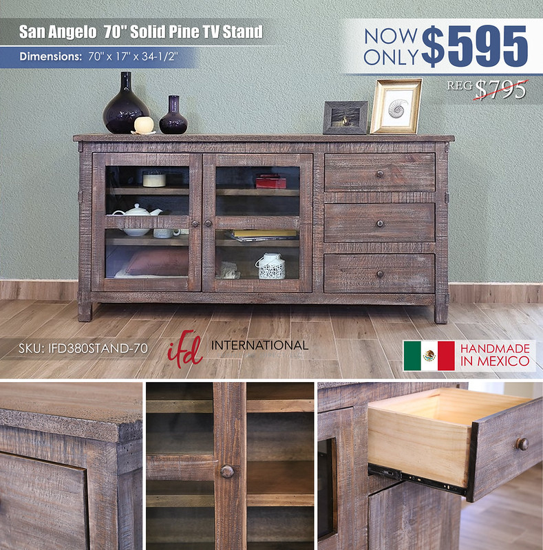 San Angelo 70in TV Stand_IFD380STAND-70