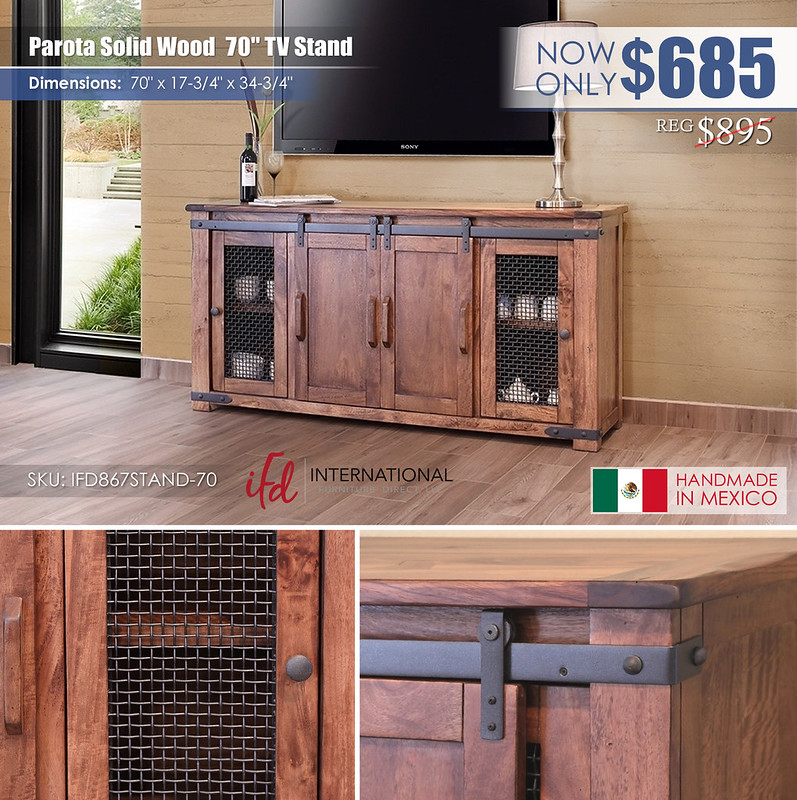 Parota Solid Wood 70in TV Stand_IFD867STAND-70_new
