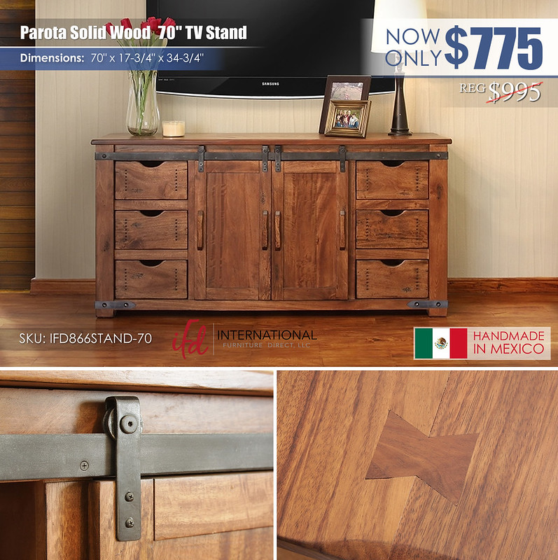 Parota Solid Wood 70in TV Stand_IFD866STAND-70