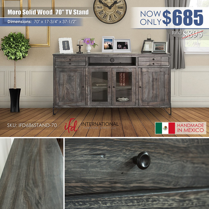 Moro Solid Wood 70in TV Stand_IFD686STAND-70