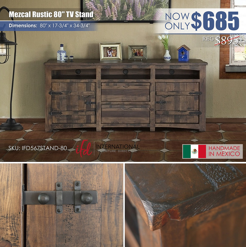 Mezcal Rustic 80in TV Stand_IFD567STAND-80