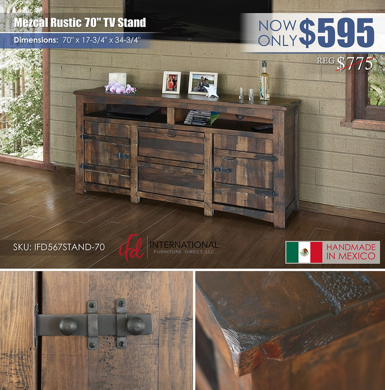 Mezcal Rustic 70in TV Stand_IFD567STAND-70