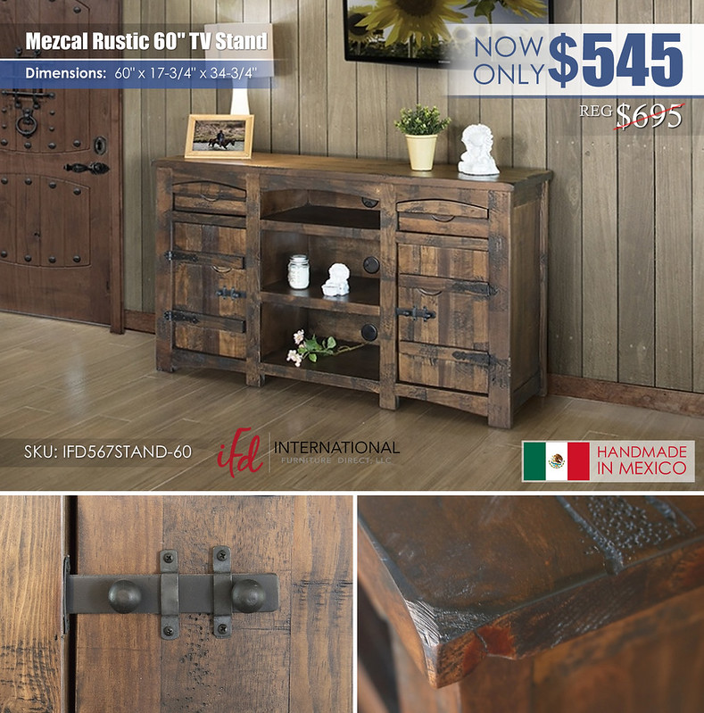 Mezcal Rustic 60in TV Stand_IFD567STAND-60