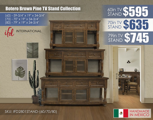 Botero Brown Pine Collection_IFD2801STAND-60-70-80