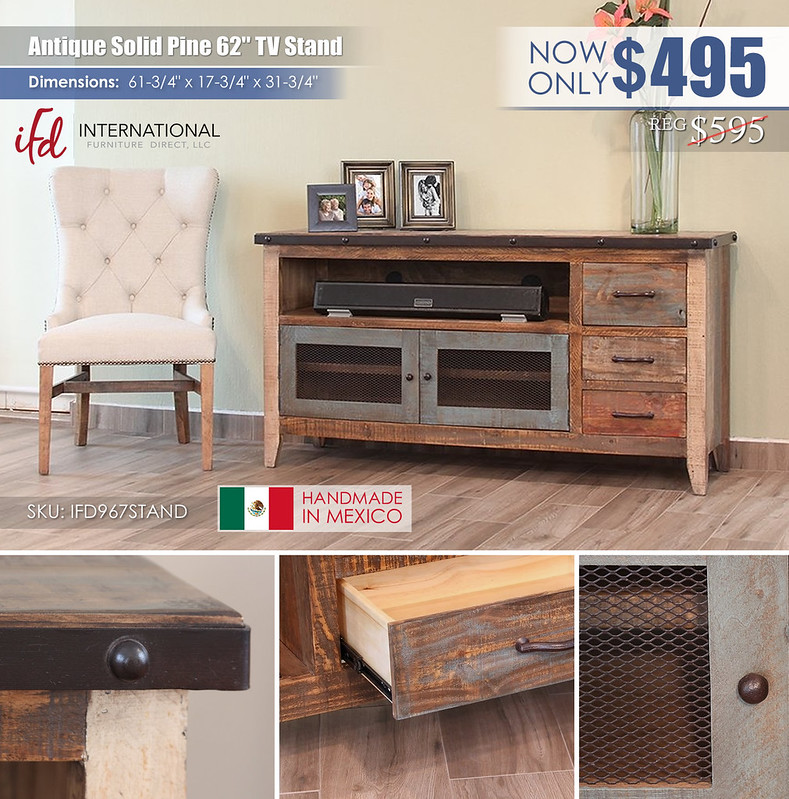 Antique 52in TV Stand_IFD967STAND