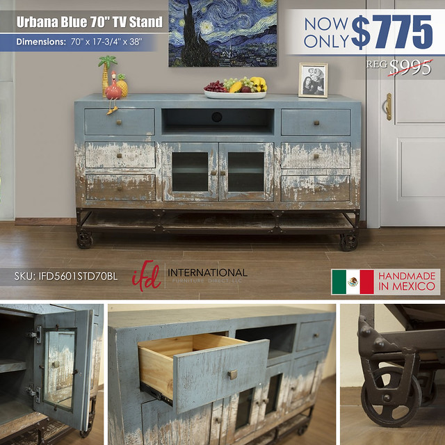 Urbana 70in Blue TV Stand_IFD5601STD70BL