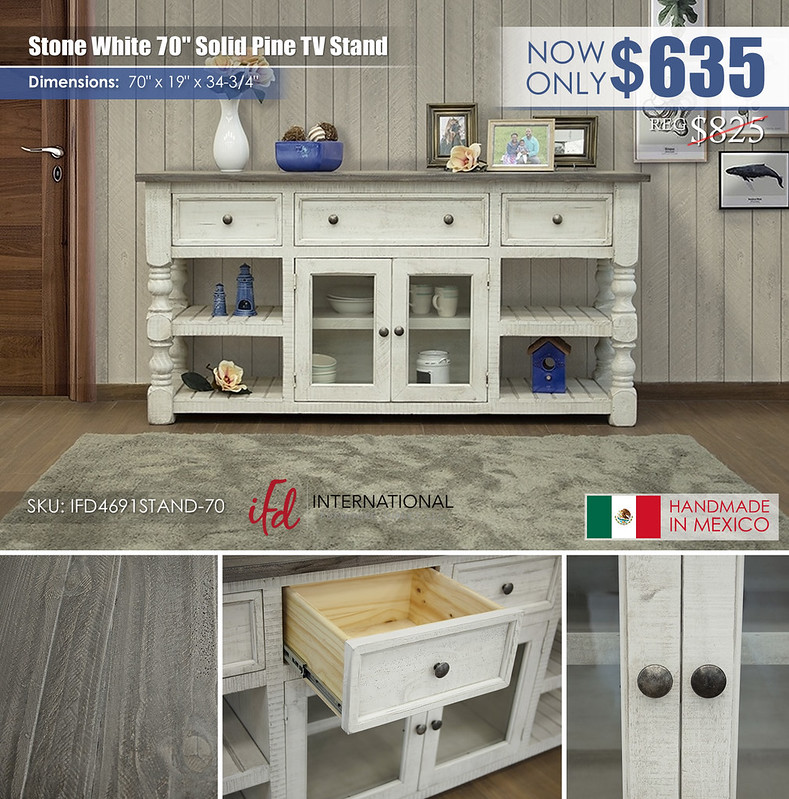 Stone White 70in TV Stand_IFD4691STAND-70