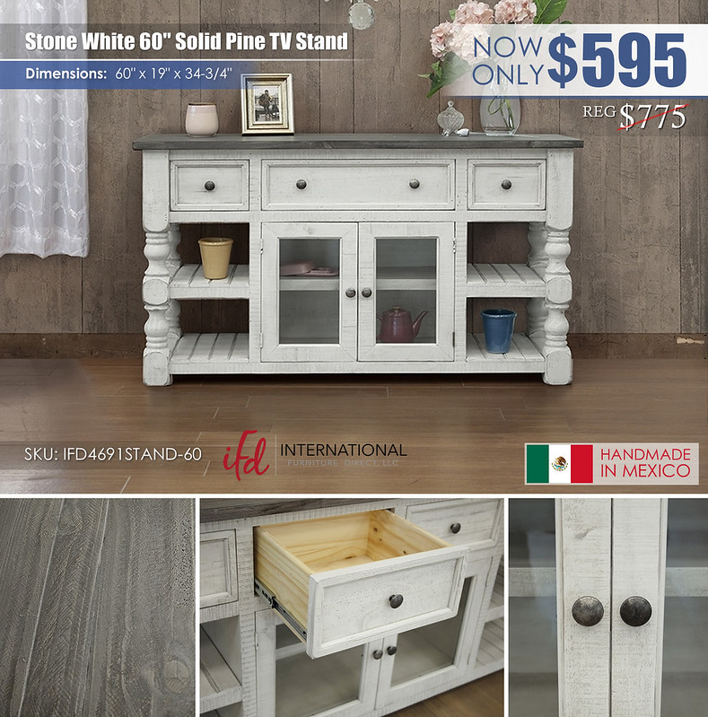 Stone White 60in TV Stand_IFD4691STAND-60