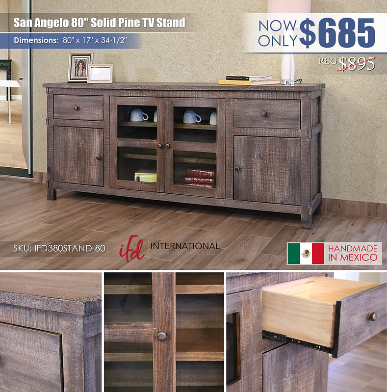 San Angelo 80in TV Stand_IFD380STAND-80