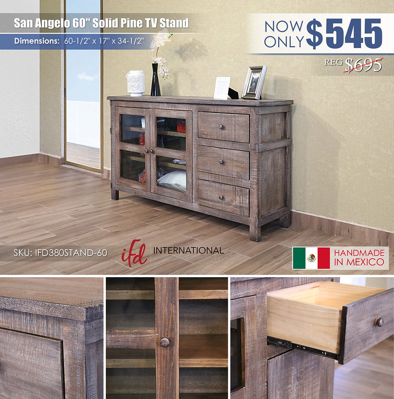 San Angelo 60in TV Stand_IFD380STAND-60