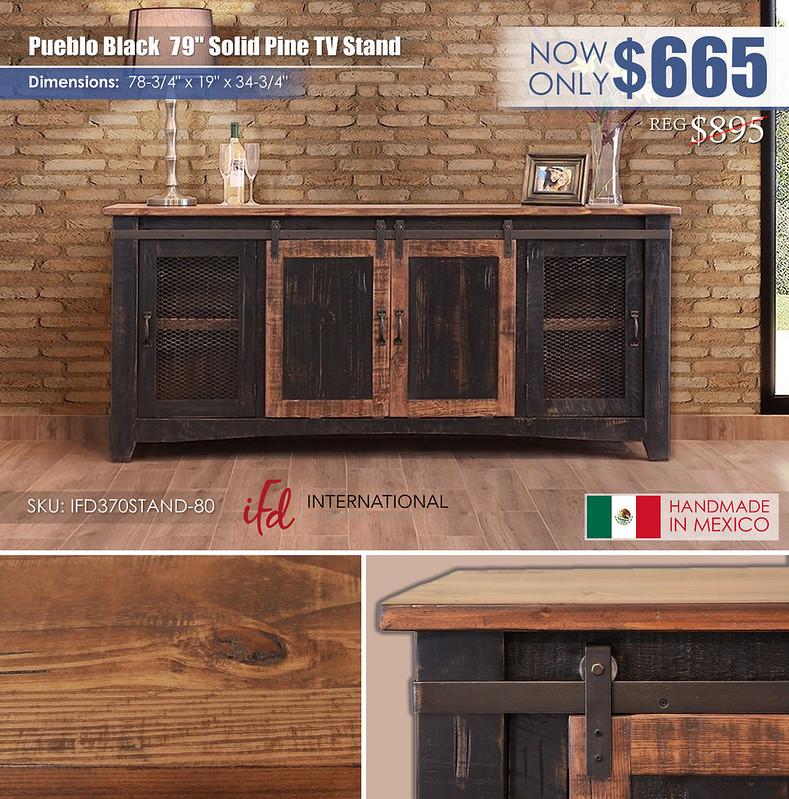 Pueblo Black 79in TV Stand_IFD370STAND-80