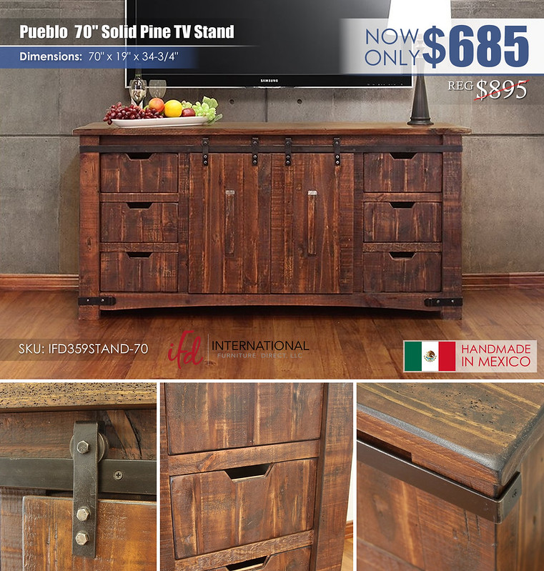 Pueblo 70in TV Stand_IFD359STAND-70