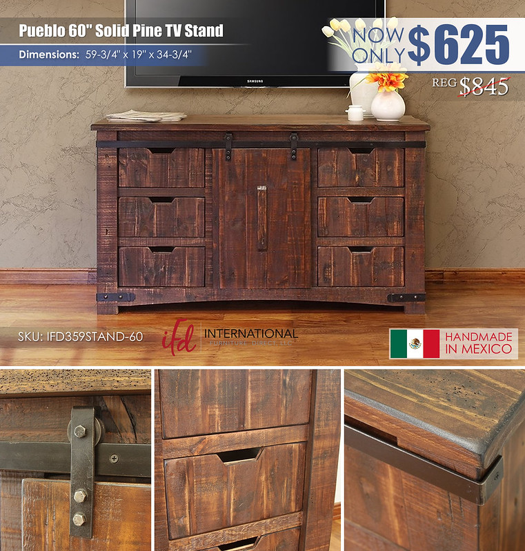 Pueblo 60in TV Stand_IFD359STAND-60