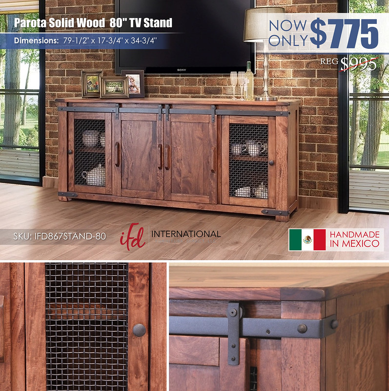 Parota Solid Wood 80in TV Stand_IFD867STAND-80_new